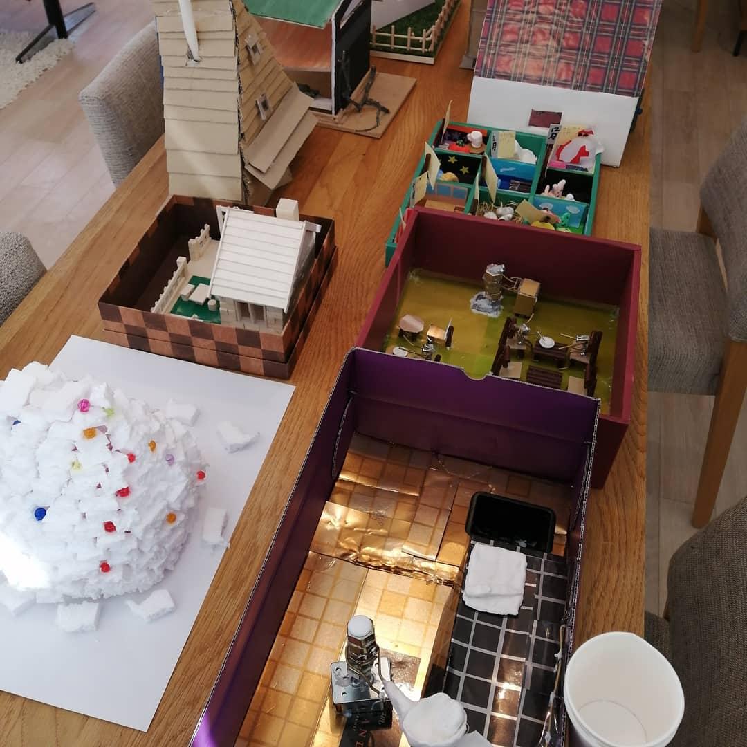 家の模型を作ってみよう!コンテストの作品が集まりました